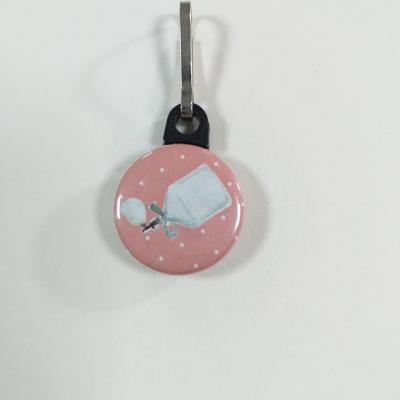Tirette zip  badge fermeture éclair Bouteille de Parfum