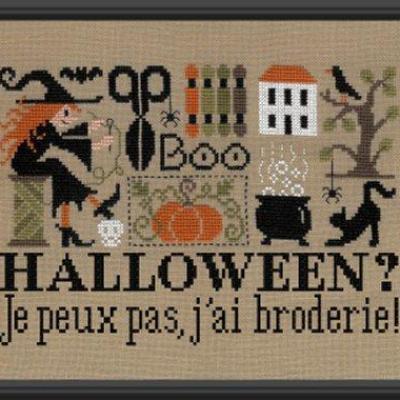 Halloween ? Je peux pas, j'ai broderie ! FT86 Jardin Privé