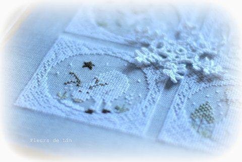 Hiver blanc fleurs de lin 2
