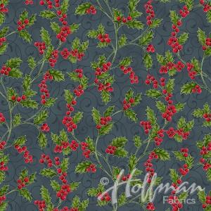 Tissus Patchwork Hoffman Poinsettia Song Charco Q7639-55S
