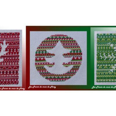 Le Noël Nordique Les Points de Croix de Mary