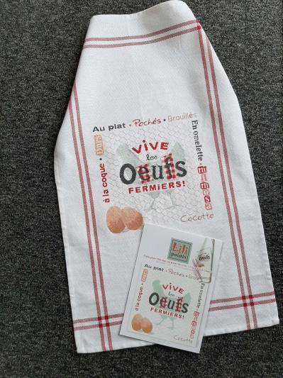 Kit les oeufs fermiers g040 lilipoints avec torchon graziano et fils dmc 3