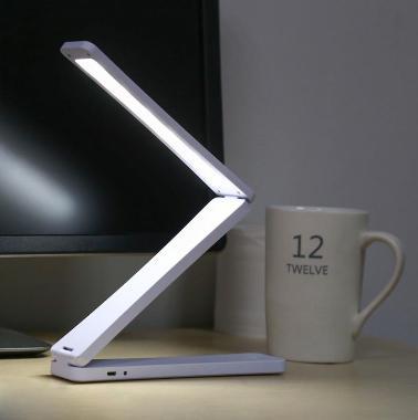 Lampe pliable de Bureau  Rechargeable USB  Portable Lumineux 17 Leds