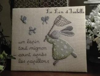 Lapin et Papillons Le Lin d'Isabelle