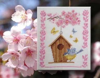 Le nichoir au printemps N° 993 Au Fil de Martine