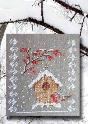 Le nichoir en hiver N° 980 Au Fil de Martine
