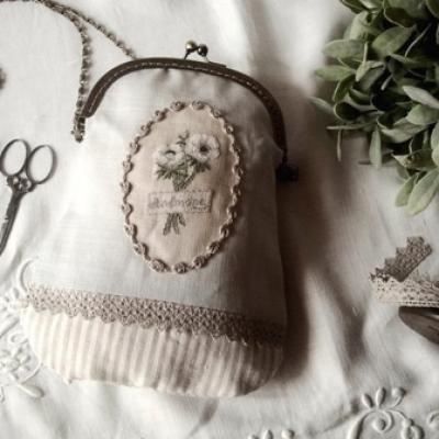 Sac au bouquet d'anémone Le Lin d'Isabelle