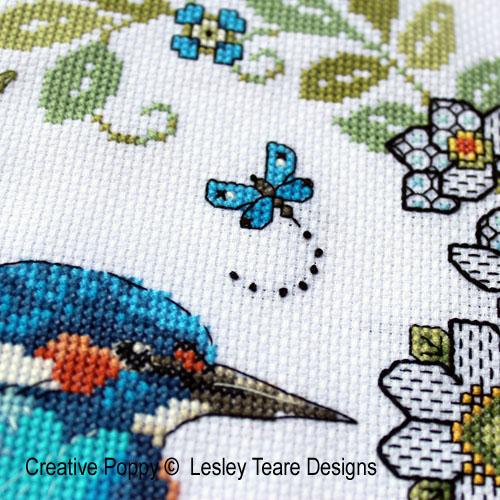 Lesley teare designs blackwork iris kingfisher z1 500cr