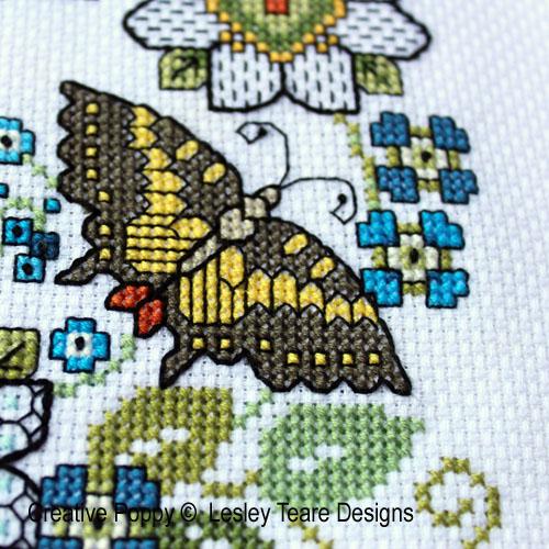 Lesley teare designs blackwork iris kingfisher z3 500cr