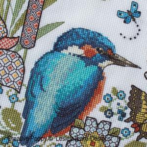 Lesley teare designs blackwork iris kingfisher z4 500cr