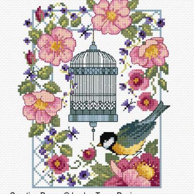 Vintage charm 'La cage aux oiseaux' Lesley Teare