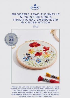Livre Broderie traditionnelle et point de croix N°3 DMC