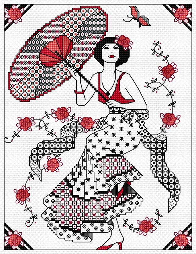 Ljt164 girl with parasol simulation