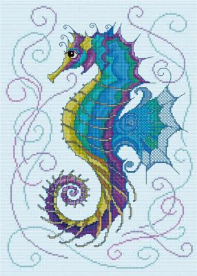 Glorious Seahorse 'Hippocampe' Lesley Teare