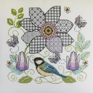 Ljt303 clematis and great tit 2