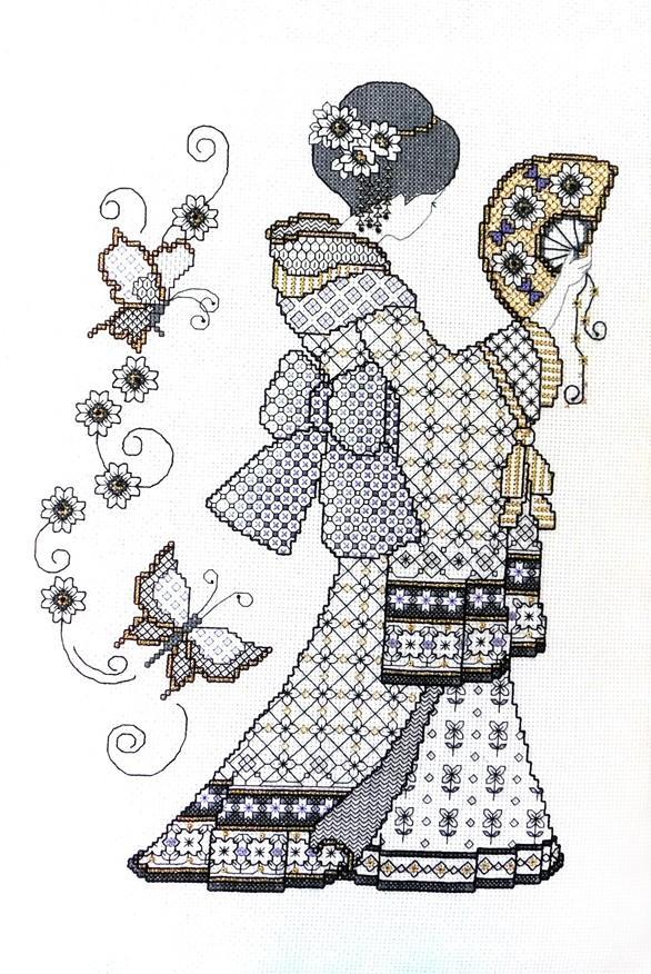 Ljt357 blackwork oriental charm