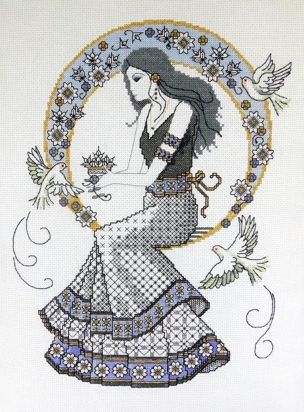 Ljt358 blackwork autumn lady