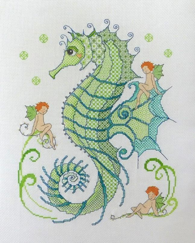 Ljt363 blackwork seahorse and friends 1