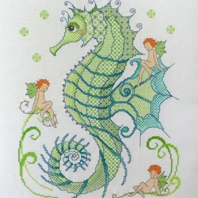 Blackwork Seahorse and Friends 'Hippocampe' Lesley Teare