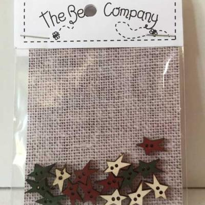 Lot de 15 boutons mini étoiles - TE6B  The Bee Company