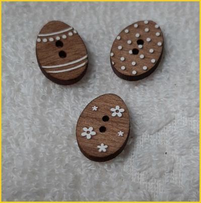 Lot de 3 boutons oeufs de paques blea112 160lo