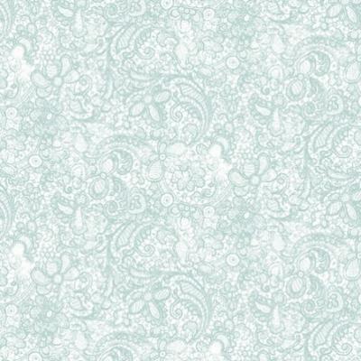 Tissu Patchwork Clothworks Love Song Light Teal