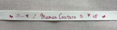 Ruban Message 'Maman Couture' 1cm