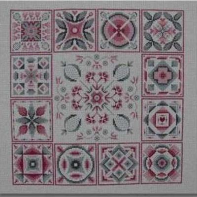 Patch rose et gris N° 865 Au Fil de Martine