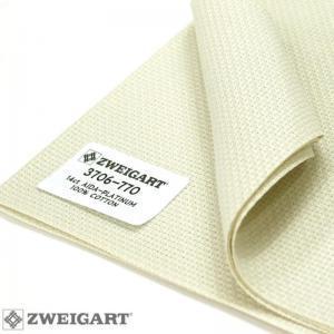 Toile à Broder Zweigart Aïda 5.4 Pts Extra Fine 3706 Platine 770