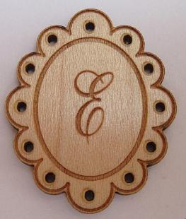 Médaillon Monogramme BLD601 Lettres : A,B,C,D,E,F,G,L,M,P,S,T,V  Au P'tit Bonheur