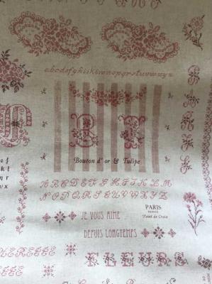 Tissus Métis Yuwa Lin Alphabet Rouge