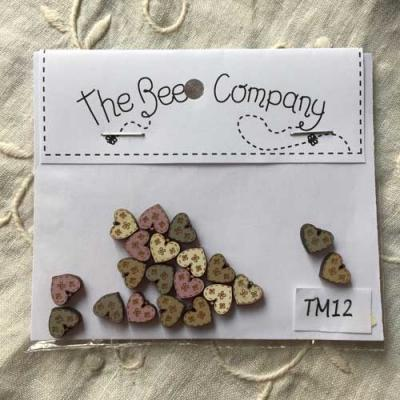 Lot de 20 Mini Coeurs assortis TM12 The Bee Company