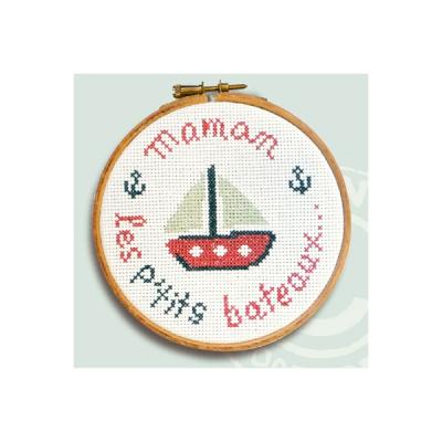 """Mini kit """"Maman les petits bateaux"""" KE016 Lilipoints"""