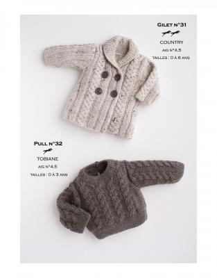 Modèle Gilet CB17-31- Patron tricot gratuit