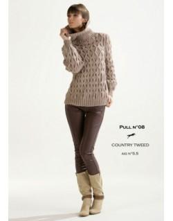 Modèle pull CB15-08 - Patron tricot gratuit