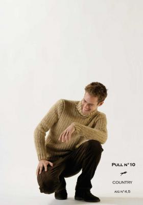 Modèle Pull homme CB11-10- Patron tricot gratuit