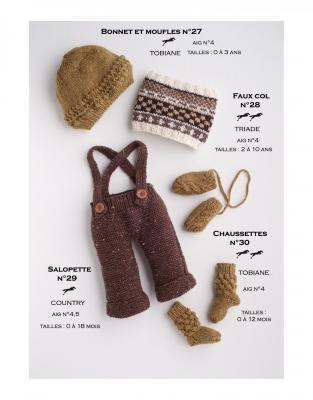 Modèle Salopette CB17-29- Patron tricot gratuit