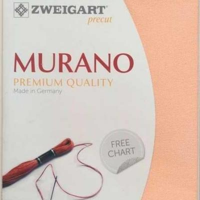 Precut Toile à Broder Zweigart Murano 3984 12,6 Fils Abricot 4094 48x68 cm