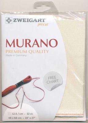 Precut Toile à Broder Zweigart Murano 3984 12,6 Fils Coquille d'Oeuf 99 48x68 cm