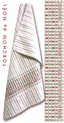 Fiche torchon de Noël N032 Lilipoints