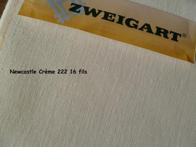 Toile à Broder Zweigart  de Lin Newcastle 16 Fils Crème 222