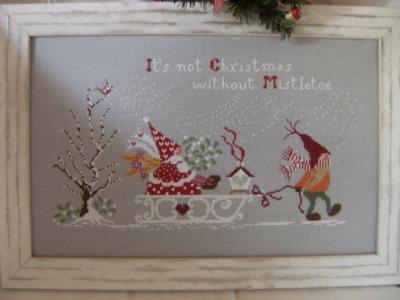 Non è Natale senza VISCHIO 'Il n' y a pas de Noël sans gui' Cuore e Batticuore