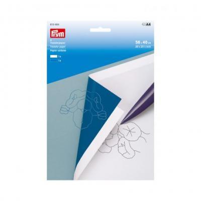 Papier carbone blanc/bleu Prym 610464