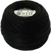 Pelote coton perle dmc n 12 noir n 310