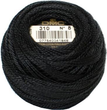 Pelote coton perle dmc n 8 noir n 310