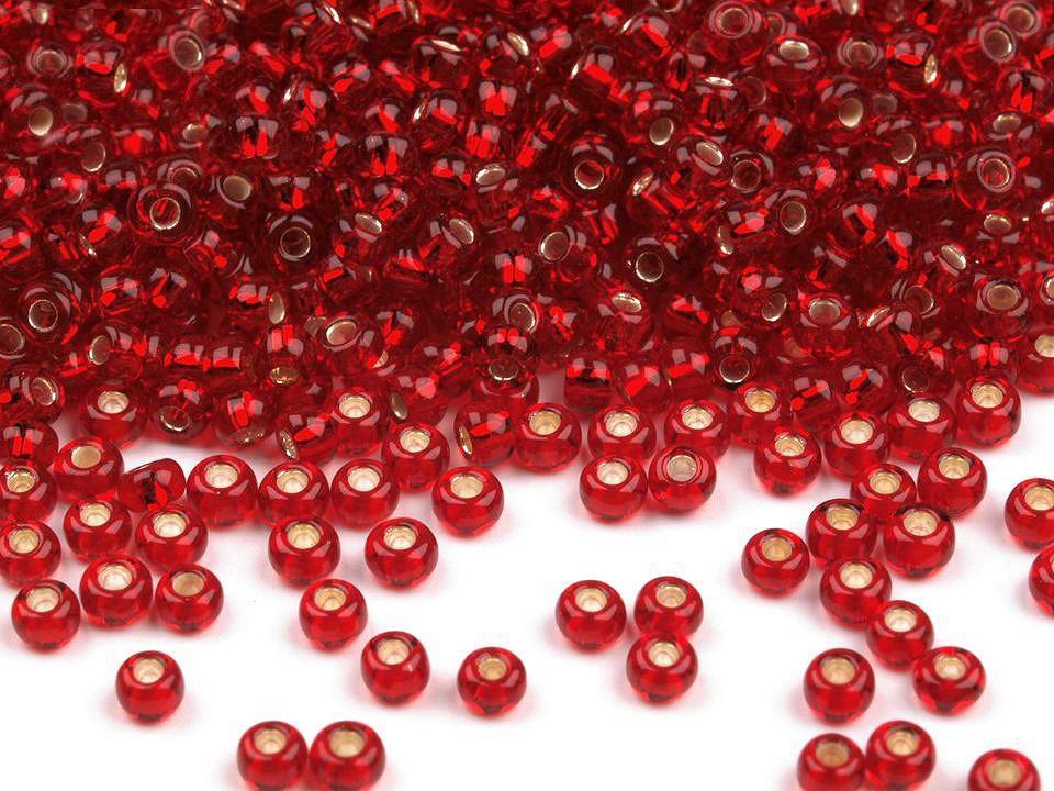 Perles de rocailles fraises 10 0 2 3 mm