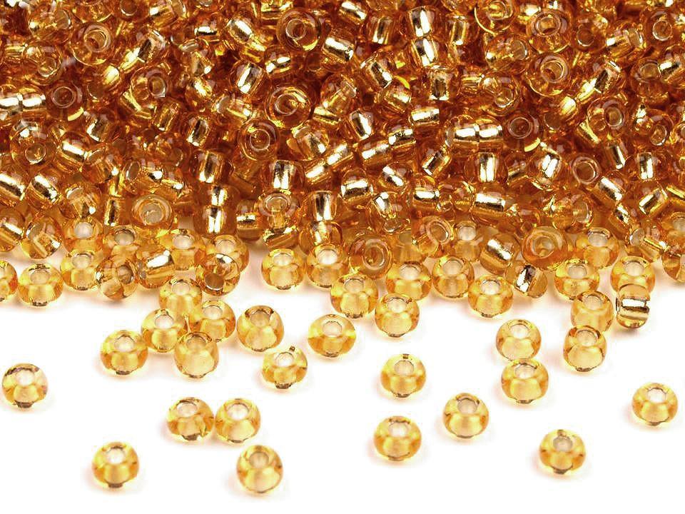 Perles de rocailles or 10 0 2 3 mm
