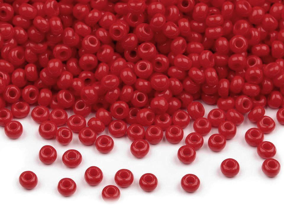 Perles de rocailles rouge fonce 10 0 2 3 mm