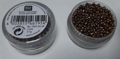 Perles de Rocailles Or Métallique 2mm Rico Design 7091.04.49