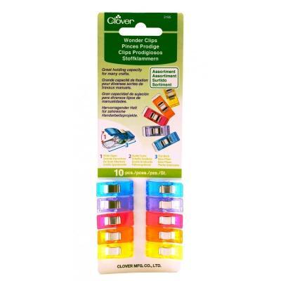 Lot de 10 pinces Prodige Multicolores Clover Réf. 3185
